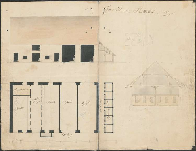 Erweiterung des Pfarrökonomiegebäudes und Bau des Pfarrhauses in Schuttertal sowie bauliche Unterhaltung dieser Gebäude, Bild 1