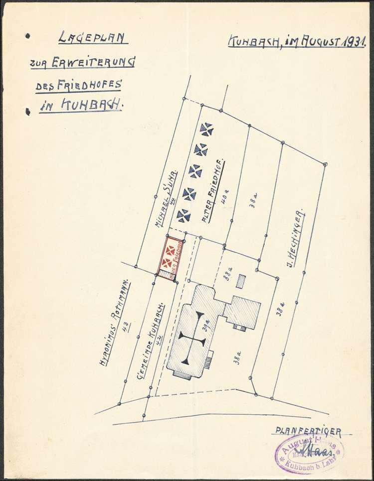 Unterhaltung des Friedhofs in Kuhbach, Bild 1