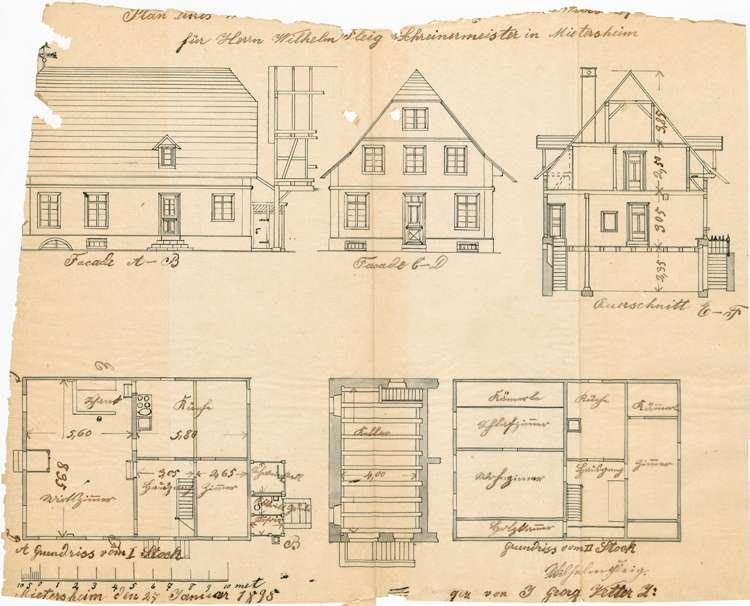 Konzessionierung und Betrieb der Schank-, später Gastwirtschaft Zur Linde in Mietersheim, auch deren Abbruch und Wiederaufbau, Bild 2