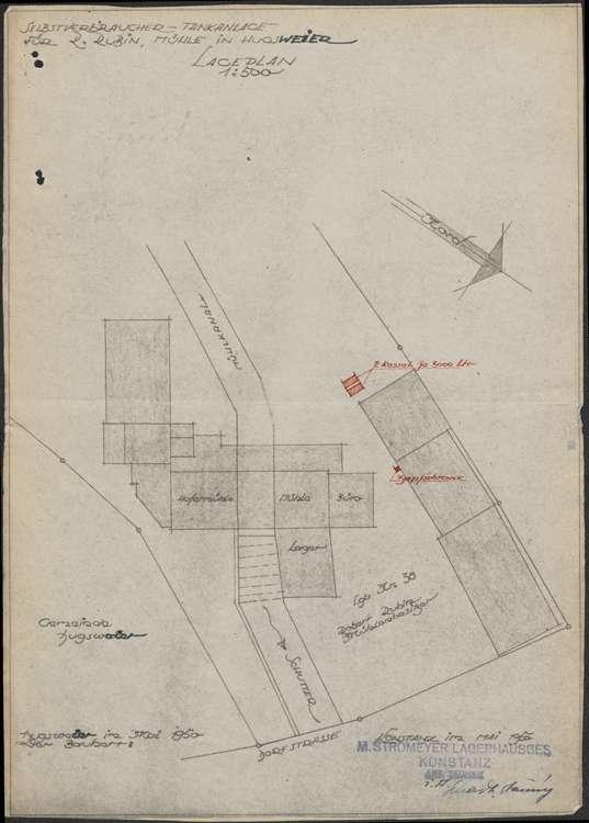 Erstellung einer Selbstverbraucher-Tankanlage auf dem Gelände des Mühlenbetriebs des Robert Rubin in Hugsweier, Bild 1