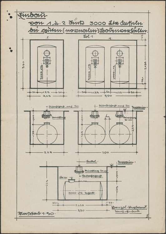 Erstellung einer Selbstverbraucher-Tankanlage auf dem Gelände des Mühlenbetriebs des Robert Rubin in Hugsweier, Bild 2