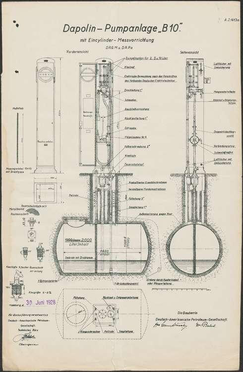 Erstellung einer Dapolinpumpanlage auf dem Firmengelände des Maurers Emil Gabelmann in Hugsweier, Bild 1