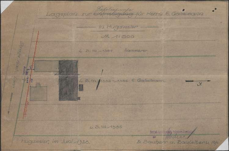 Erstellung einer Dapolinpumpanlage auf dem Firmengelände des Maurers Emil Gabelmann in Hugsweier, Bild 2