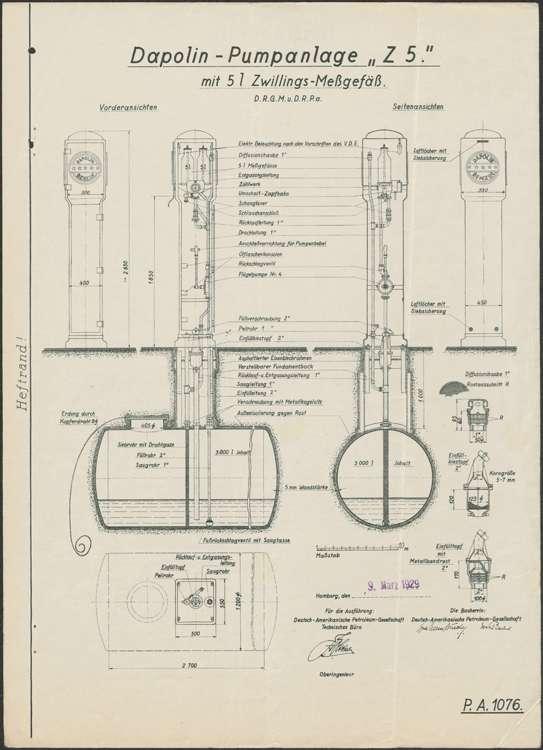 Erstellung einer Dapolinpumpanlage auf dem Firmengelände des Bäckers Michael Schaller in Hugsweier, Bild 2