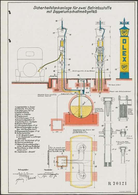 Errichtung einer Tankstelle vor dem Grundstück der Witwe des Wilhelm Kronenberg in Meißenheim, Bild 2