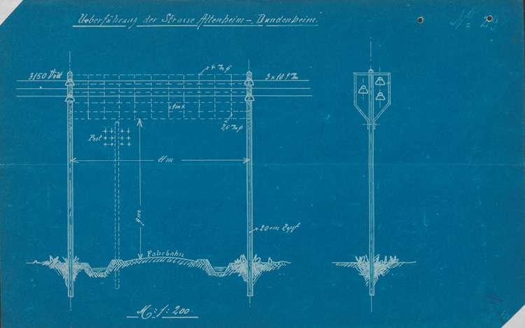 Einführung von elektrischer Energie in der Gemeinde Dundenheim, insbesondere Herstellung und Unterhaltung des Ortsnetzes, Bild 1