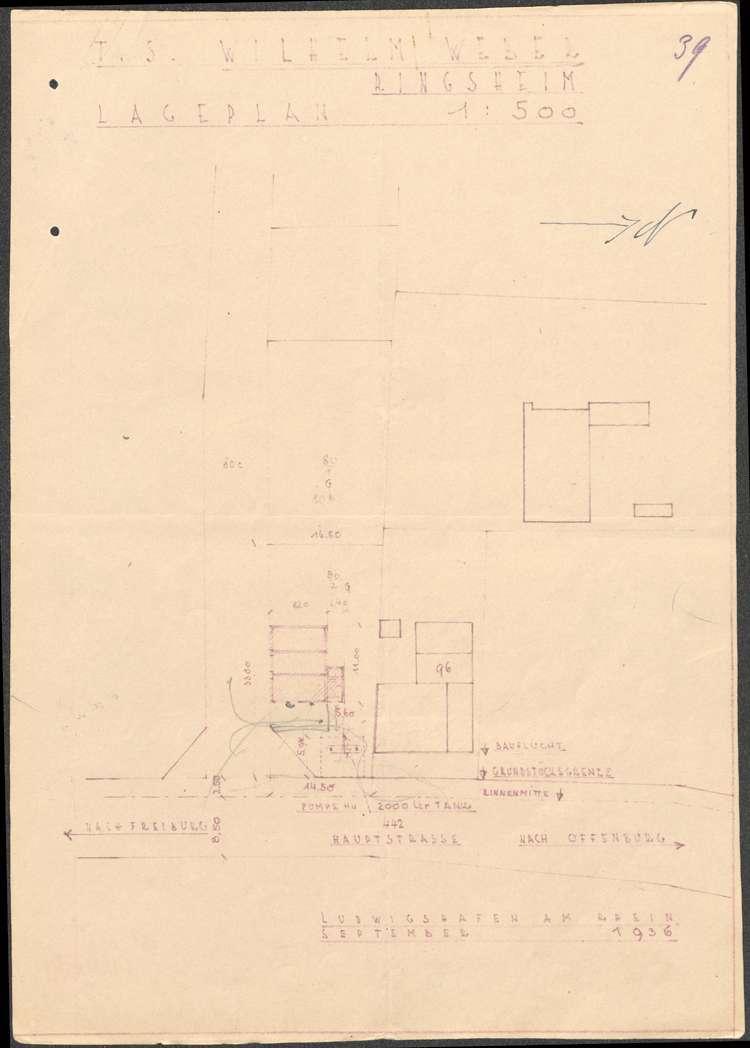 Errichtung einer Tankstelle auf dem Grundstück der Wilhlem Weber in Ringsheim sowie deren spätere Verlegung, Bild 3