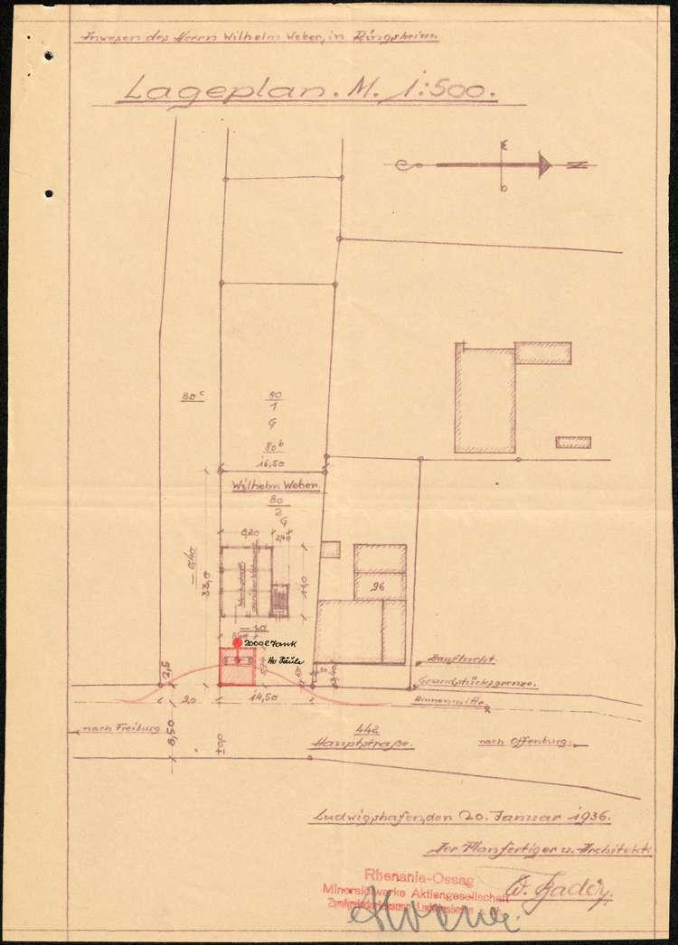 Errichtung einer Tankstelle auf dem Grundstück des Wilhelm Weber in Ringsheim, Bild 2