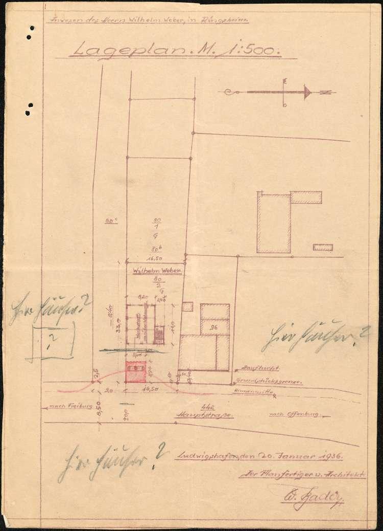 Errichtung einer Tankstelle auf dem Grundstück des Wilhelm Weber in Ringsheim, Bild 3