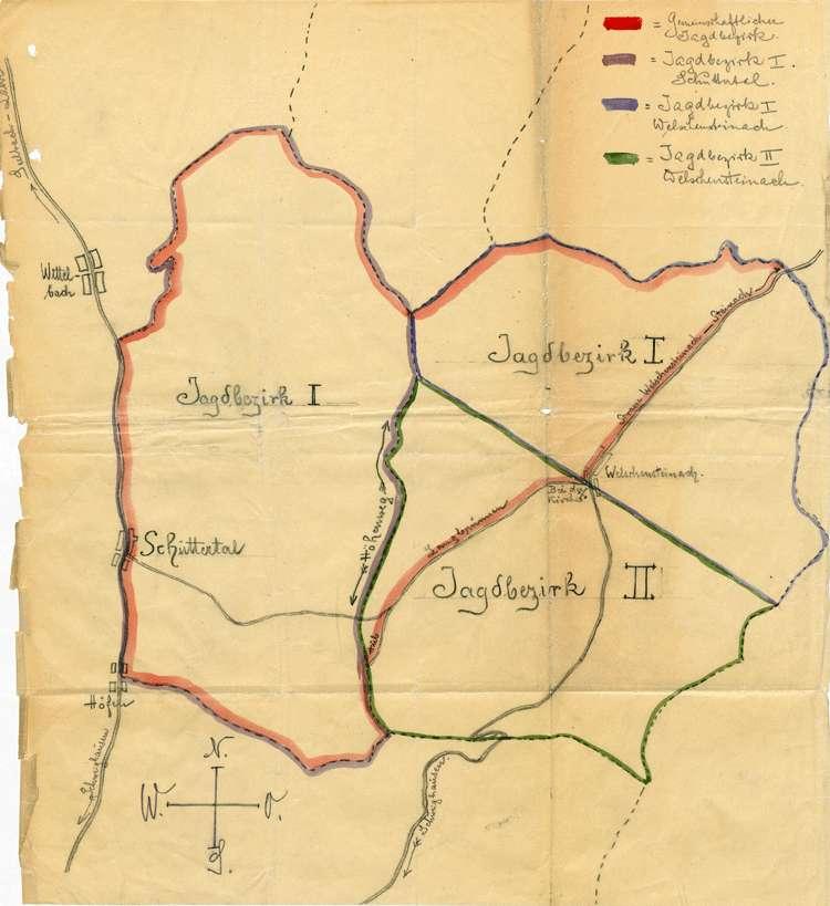 Bildung von Jagdbezirken und Verpachtung der Gemeindejagd in Schuttertal, Bild 3