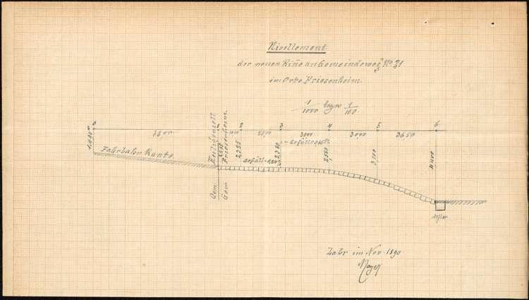 Zustand und Reparation des Gemeindeweges Nr. 21 in Friesenheim, Bild 1
