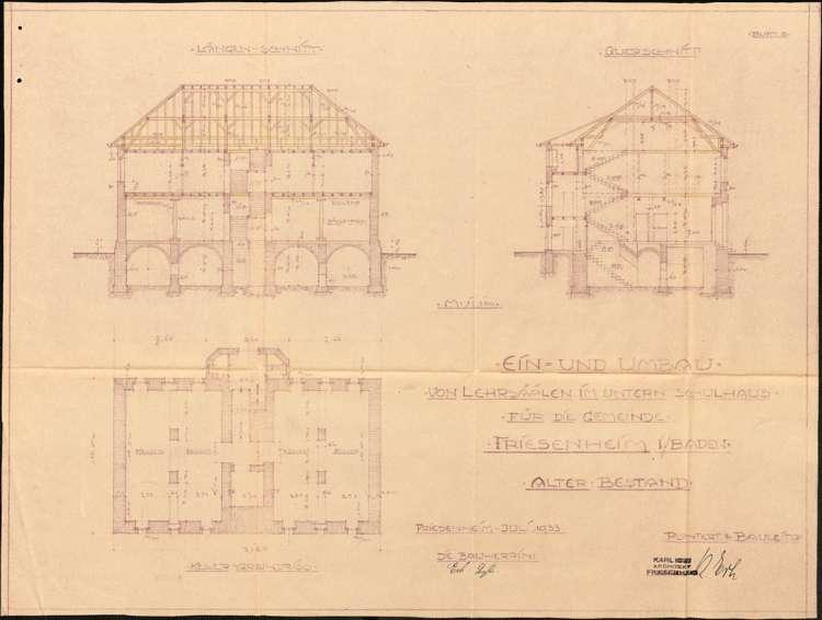 Schulhausneubau sowie Umbau des Schulhauses und der Lehrerwohnung in der Gemeinde Friesenheim, Bild 3