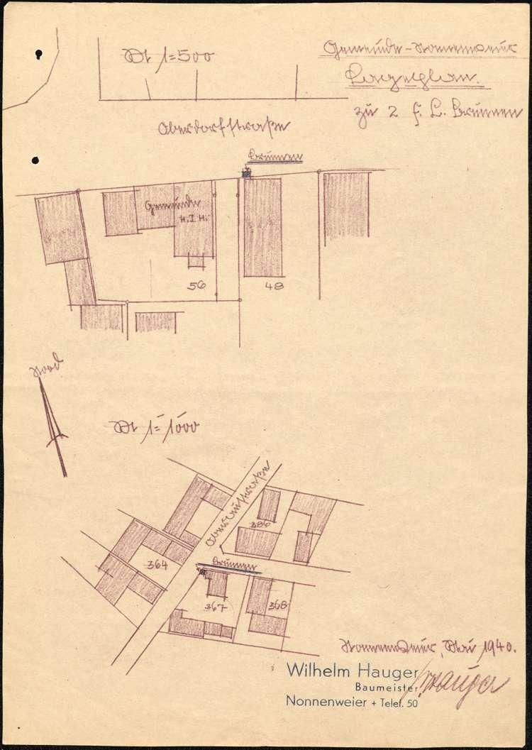 Herstellung und Unterhaltung der Löschwasserversorgung in Nonnenweier, Bild 1