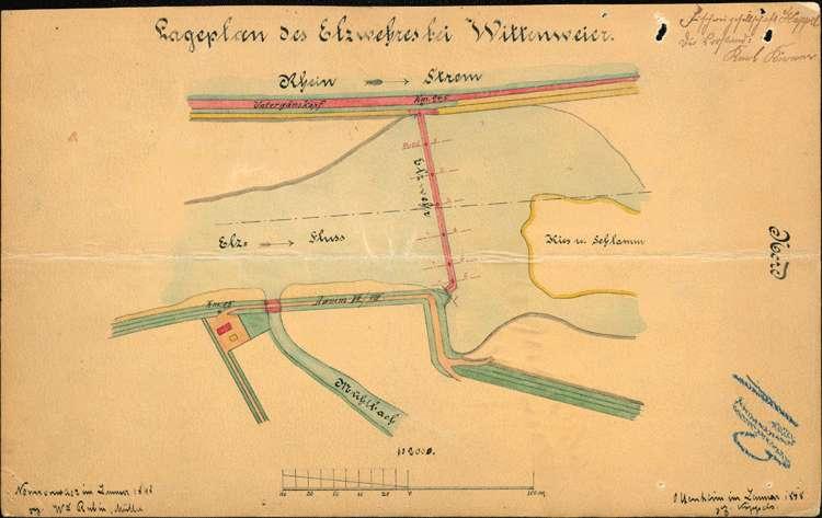 Erstellung eines Fischstegs/einer Fischtreppe am Müllerwehr auf Gemarkung Wittenweier, Bild 1