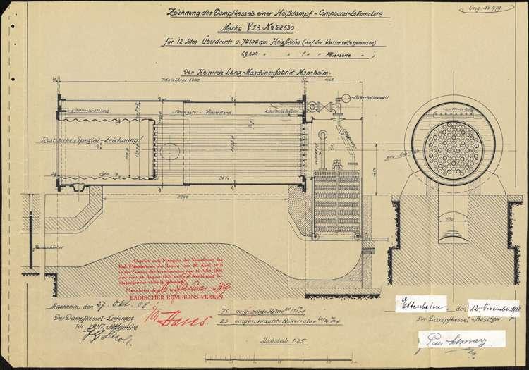Gesuch des Peter Schwarz in Ettenheim um Genehmigung zur Errichtung eines Dampfkessels zum Betrieb seines Sägewerks, Bild 1