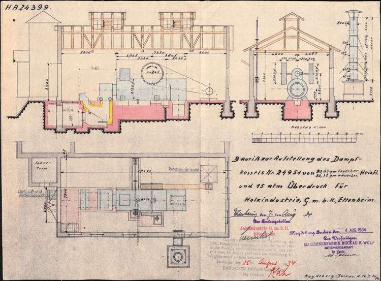Gesuch der Firma Holzindustrie GmbH in Ettenheim um Genehmigung zur Errichtung eines Dampfkessels sowie dessen Betrieb und Überwachung, Bild 2