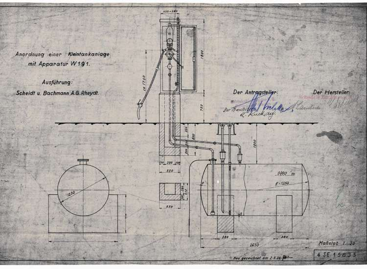 Gesuch der Firma Holzindustrie Stoelker KG in Ettenheim um Genehmigung zur Errichtung einer Tankanlage in der Hindenburgstraße, Bild 3