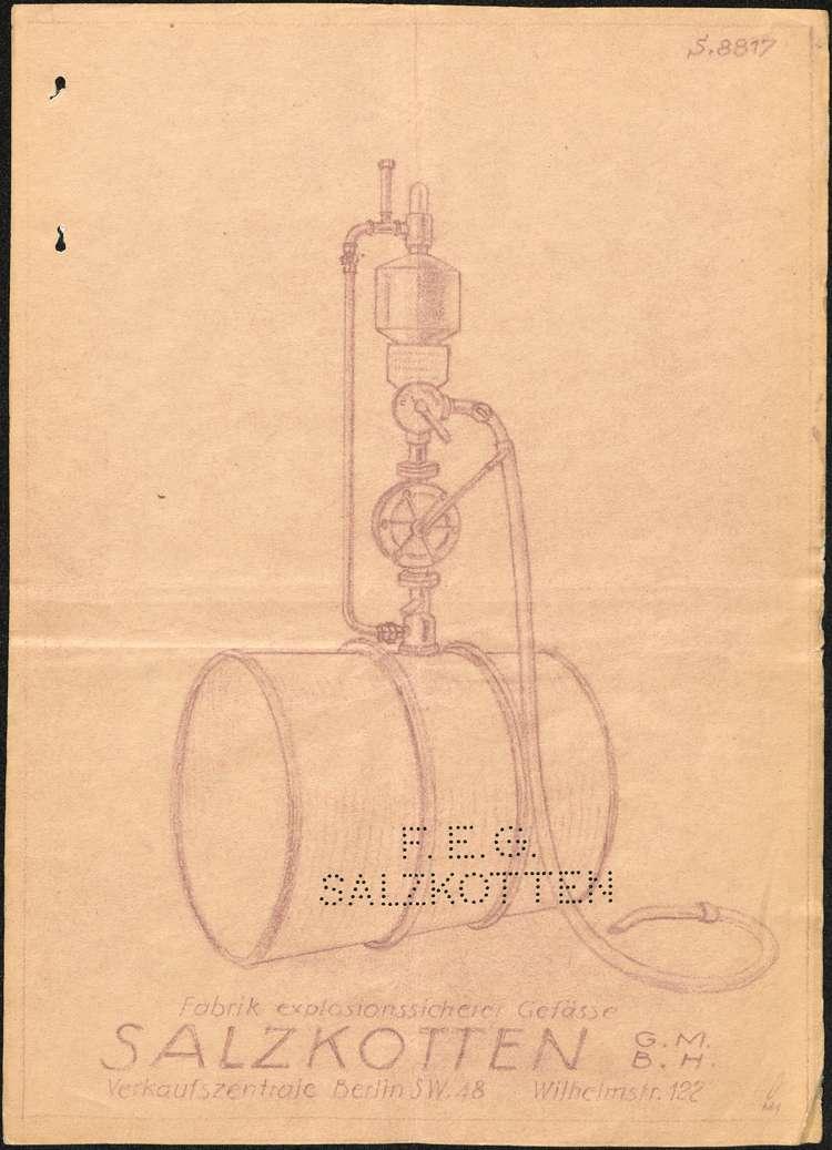 Aufstellung einer fahrbaren Benzin-Zapfanlage durch Robert Ohnemus in Ettenheim, Bild 2