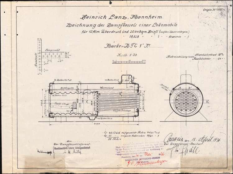 Genehmigung, Betrieb und Überwachung des Dampfkessels der Firma Theodor Späth in Oberweier, Bild 2