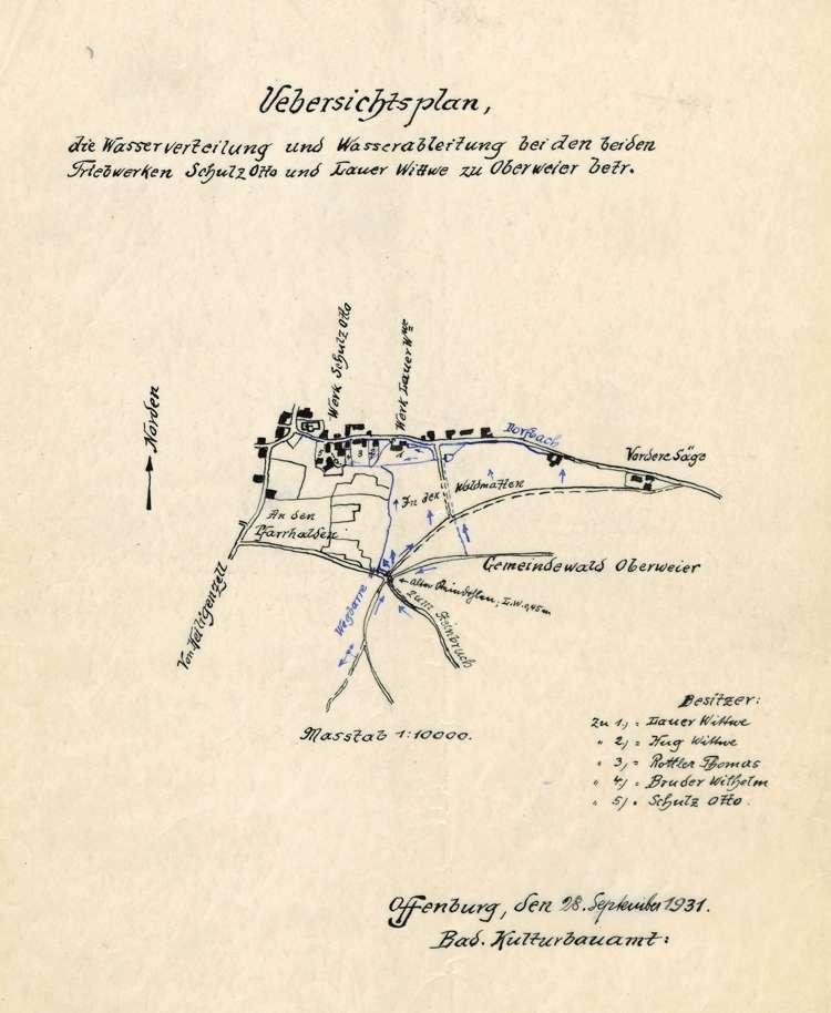 Beschwerde wegen Überschwemmungen beim Mühlkanal des Otto Schulz in Oberweier, Bild 2