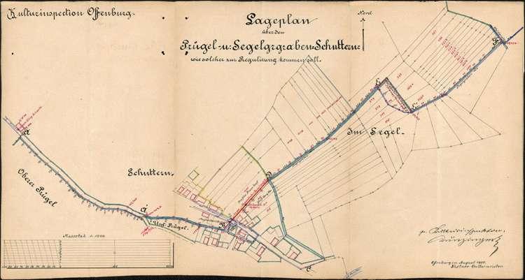 Regulierung des Prügelgrabens zur Ortsentwässerung der Gemeinde Schuttern, Bild 1