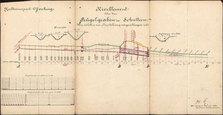 Regulierung des Prügelgrabens zur Ortsentwässerung der Gemeinde Schuttern, Bild 2