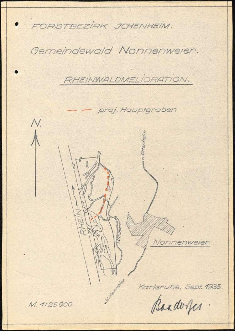 Wasserpolizeiliches Verfahren bei den Rheinwaldmeliorationen auf Gemarkung Rust, Bild 2