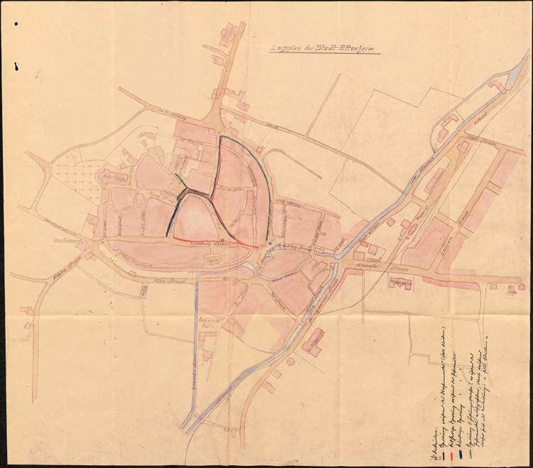Sperrung der Festungsstraße in Ettenheim für den Kraftfahrzeugverkehr; Verkehrsverhältnisse in Ettenheim, Bild 2