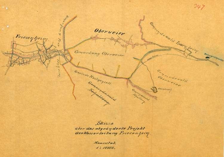 Herstellung einer Wasserleitung für die Gemeinde Friesenheim, Bild 1