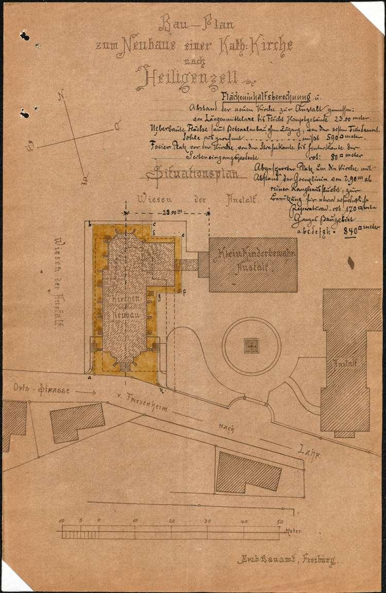 Bau einer Kirche in Heiligenzell, Bild 1