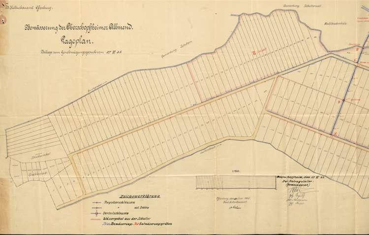 Bewässerung der Allmend auf Gemarkung Oberschopfheim, Bild 1
