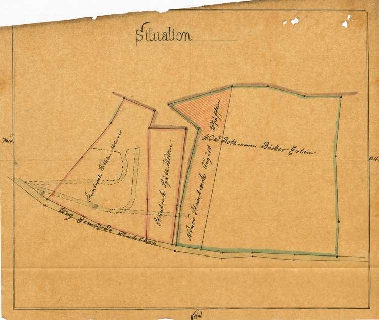 Gesuch des Bäckers Hieronimus Rothmann in Kuhbach um Genehmigung zur Teilung eines Waldes auf dortiger Gemarkung, Bild 1