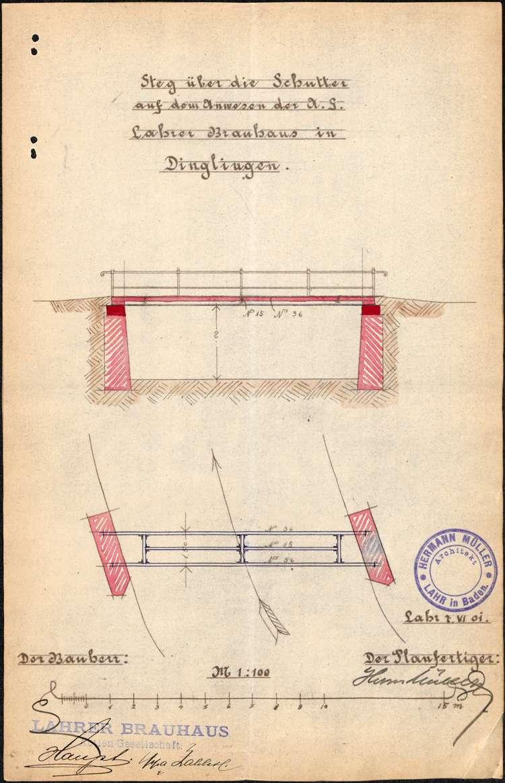 Bachschau an der Schutter auf Gemarkung Dinglingen sowie Vollzug der Schutterordnung, Bild 2