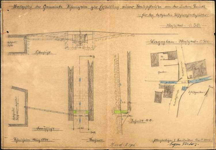 Erstellung von zwei Stauwehren im Dorfbach auf Gemarkung Schmieheim durch die Gemeinde, Bild 2