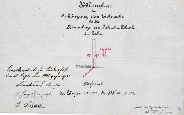 Unterhaltung und Erweiterung der Wehranlage der Firma Schad & Blank in der Schutter auf Gemarkung Lahr, insbesondere Anbringung von Stellfallen, Bild 3