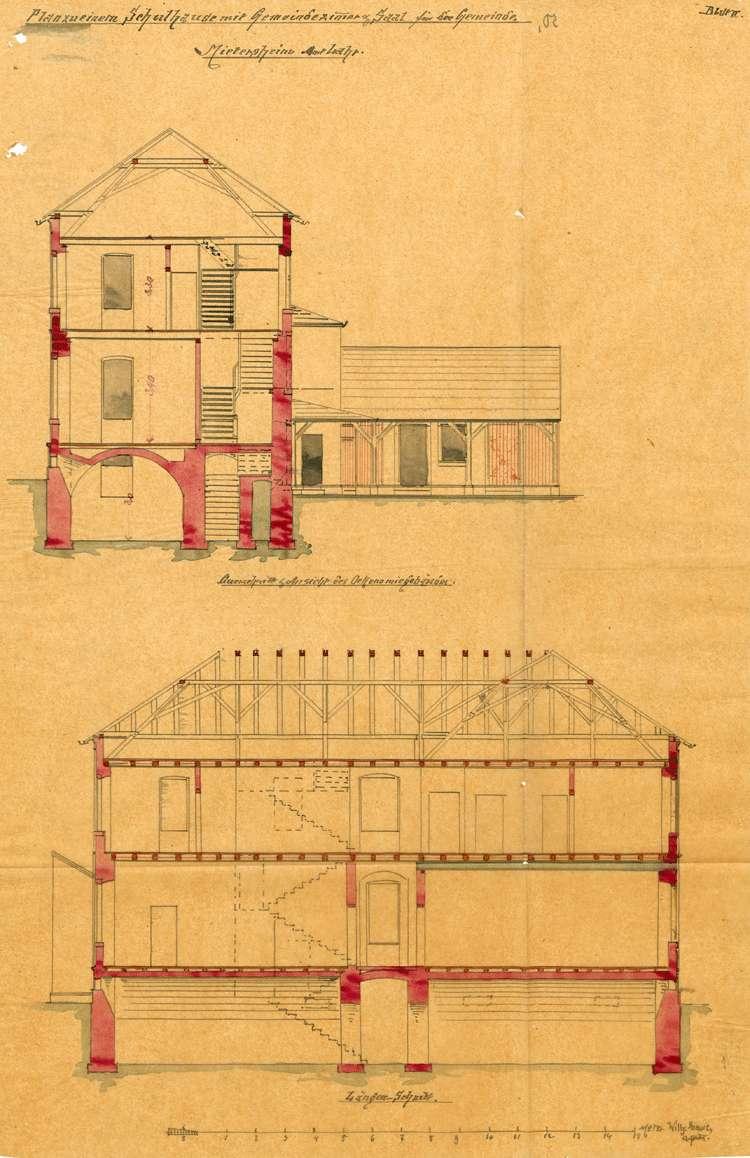 Bau eines neuen Schulhauses in der Gemeinde Mietersheim und dessen Unterhaltung, Bild 3