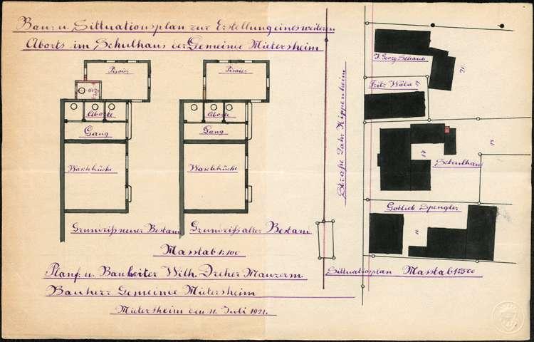 Bauliche Instandhaltung des Schulhauses der Gemeinde Mietersheim, Bild 2