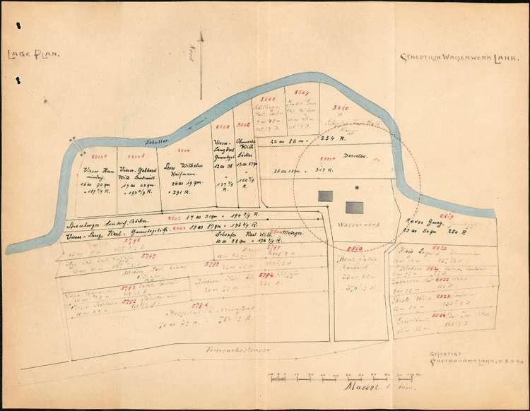 Erweiterung der Wasserleitung in Lahr; Entnahme von Wasserproben; Festlegung des Wasserzinses, Bild 2