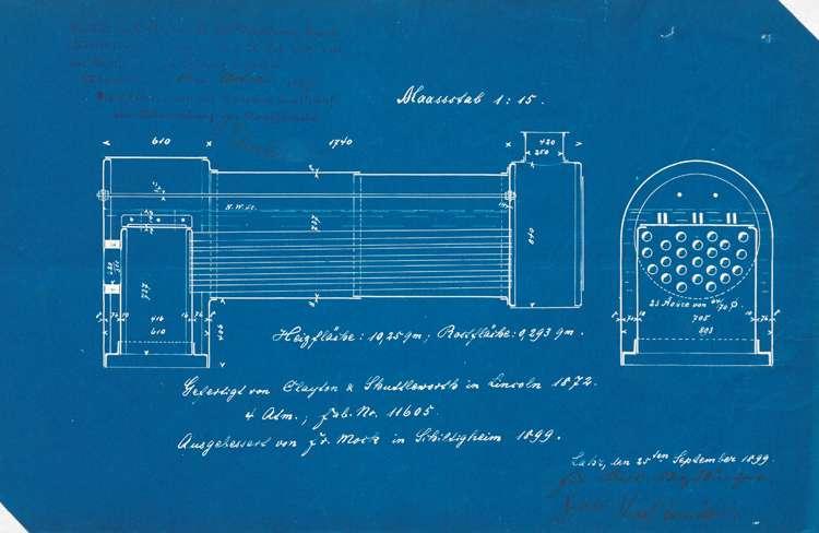 Gesuch des Jakob Zimber in Kuhbach um Genehmigung zur Aufstellung eines Dampfkessels sowie des Karl Straßburger ebendort zur Aufstellung eines Lokomobils, Bild 2