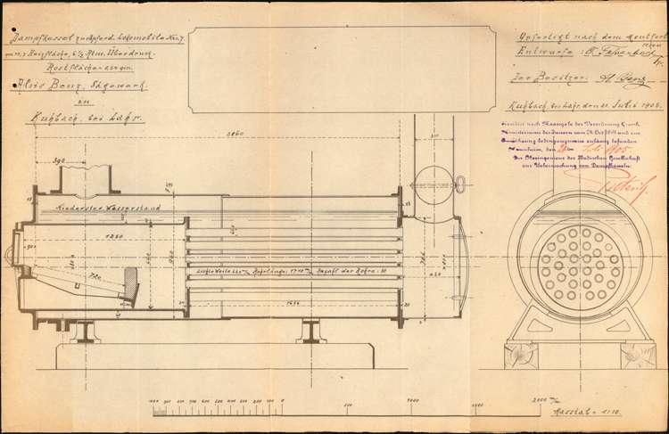 Gesuch des Sägewerkbesitzers Alois Benz in Kuhbach um Genehmigung zur Aufstellung eines feststehenden Dampfkessels, Bild 3