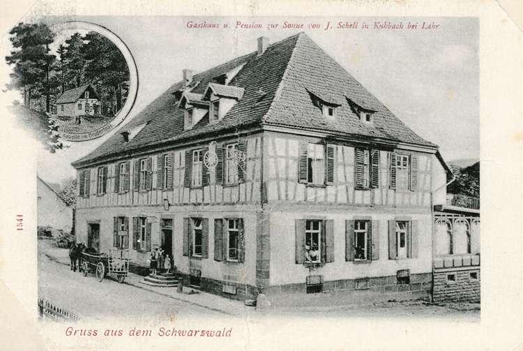 Bauliche Veränderungen am Gasthaus Zur Sonne in Kuhbach und Beurteilung des baugeschichtlichen Werts des Gebäudes, Bild 1
