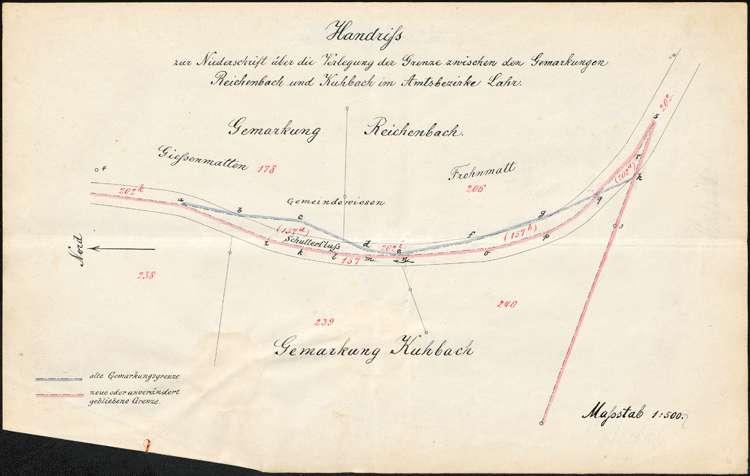 Verlegung der Gemarkungsgrenze zwischen den Gemeinden Kuhbach und Reichenbach, Bild 1