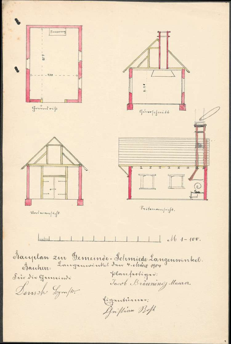 Erstellung einer Gemeindeschmiede durch die Gemeinde Langenwinkel, Bild 1