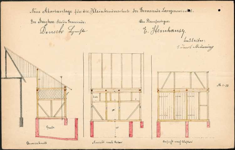 Errichtung und Betrieb der Kleinkinderschule in Langenwinkel, Bild 1