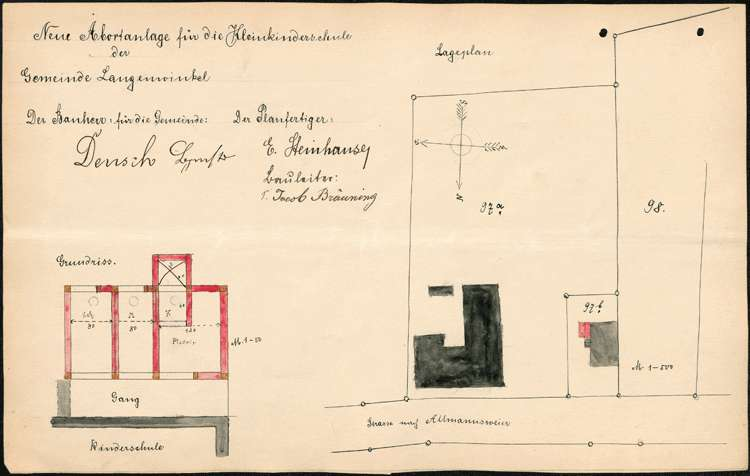 Errichtung und Betrieb der Kleinkinderschule in Langenwinkel, Bild 2