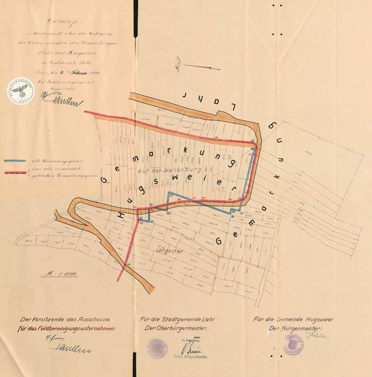 Verlegung der Gemarkungsgrenze zwischen den Gemeinden Hugsweier und Lahr, Bild 1