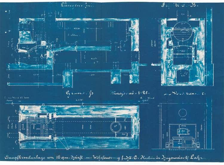 Gesuch des Karl Rubin in Hugsweier um Genehmigung zur Errichtung eines Dampfkessels, Bild 1