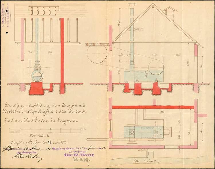 Errichtung und Betrieb eines feststehenden Dampfkessels durch Karl Rubin in Hugsweier, Überprüfung des Kessels sowie dessen Außerbetriebnahme, Bild 2