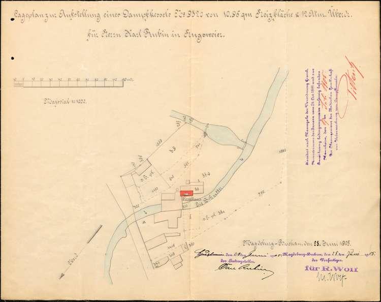 Errichtung und Betrieb eines feststehenden Dampfkessels durch Karl Rubin in Hugsweier, Überprüfung des Kessels sowie dessen Außerbetriebnahme, Bild 3