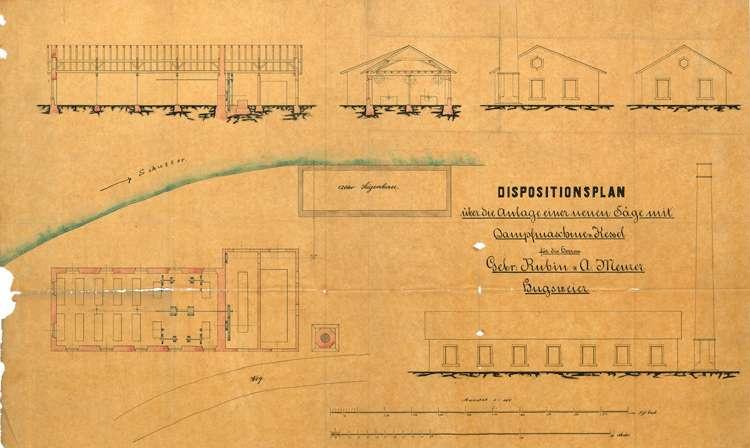 Gesuch der Brüder Karl und August Rubin in Hugsweier um Genehmigung zur Errichtung einer dampfbetriebenen Säge sowie zur Aufstellung eines feststehenden Dampfkessels, Bild 2